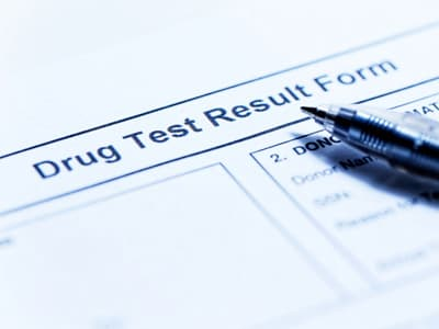 drug testing form used to deal with substance abuse in blue collar industry
