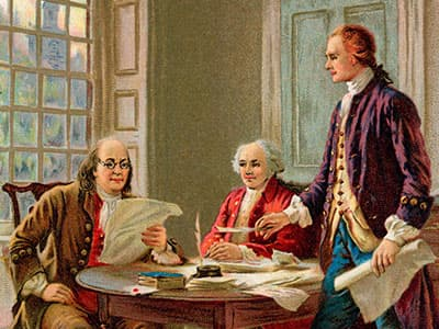 founding fathers together writing consititution