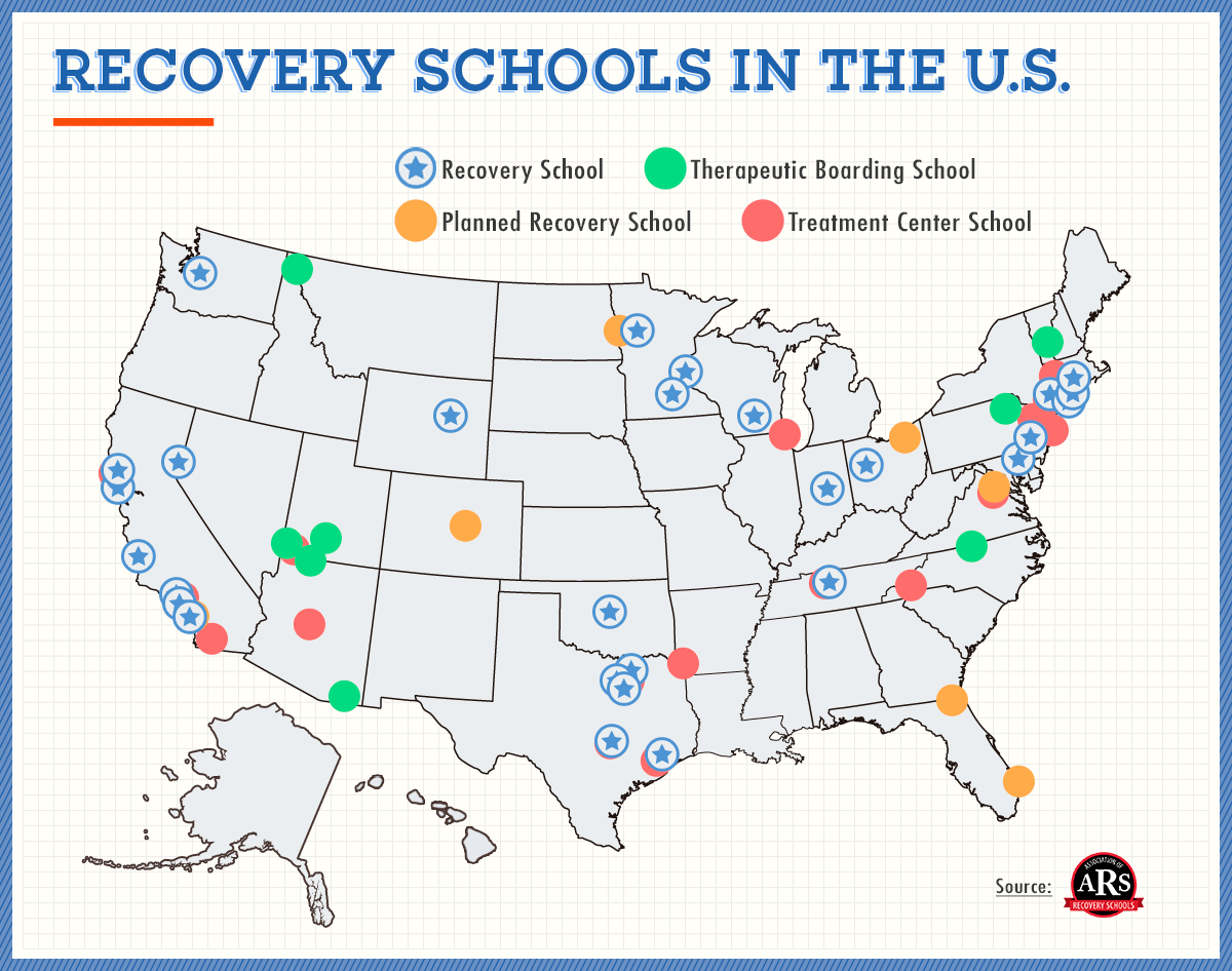 recovery high school locations