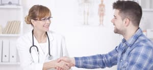 Man agreeing to treatment
