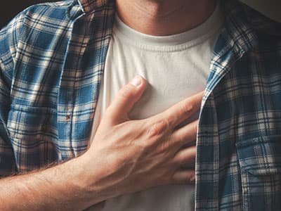 chest pain from speed abuse
