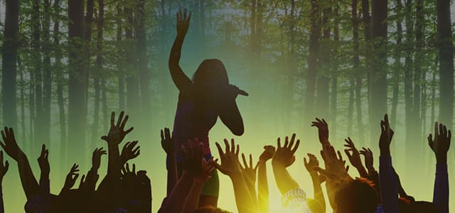 music festival in forest