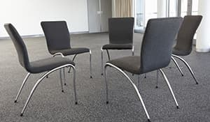 chairs at Alcoholics Anonymous meeting